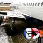 A319 British Airways не удержался в повороте